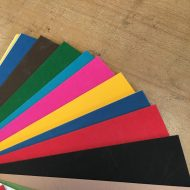 Fogli di cartoncino colorati